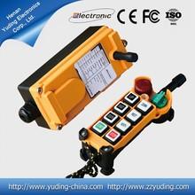 AC Crane remote control/Uting Wireless industrial remote controlF21-6SS overhead crane/ single speed button