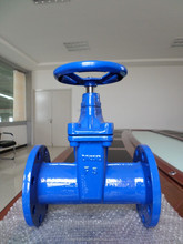 DIN-F5 Flanged End Resilient Non Rising Stem Gate Valve
