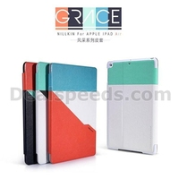 NILLKIN Keen Series Double Color Design Flip Stand Leather Foldable Case for iPad Air (White+Black)
