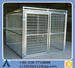 2015 Powder coating or galvanized comfortable big dog kennels &dog cages