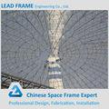 prefabricada de gran luz de alto estándar de la estructura espacial de galvanización en caliente de acero de construcción