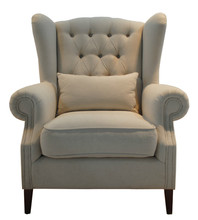 french Antique country style wing chair/French classical Ancient button tufted wing chair