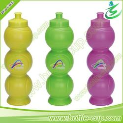 850ml PE eco-friendly black water bottle with flip top cap for sports