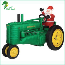 Outdoor Christmas Decoration Inflatable Santa Claus On Train