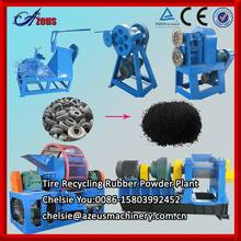 2014 Full Automatic Waste Tire Recycling Rubber Powder Making Machine / Tyre rubber crumb production line