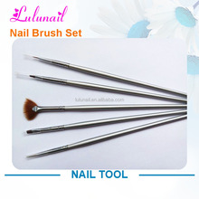 B005 Yiwu Liancai wholesale 5 pcs kolinsky hair acrylic nail brush for painting