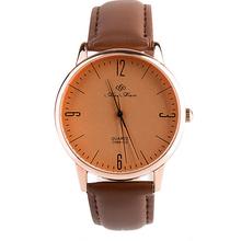 New western fashional big face wrist watch leather fashion watch