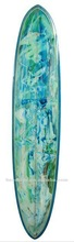 Best abstract pigment longboard/blue and green surfboard