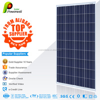 Powerwell Solar 150w polycrystalline solar modules high efficiency fiexible solar panel china price with all certificatse