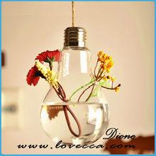 80*125mm oval shape hanging glass terrarium vase for DIY decoration home +1 meter hemp rope----only glass bottle