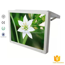 17inch bus flip down advertising screen with hdmi/av input and wifi