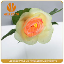 Custom led ratten light artificial flower for wedding decoration