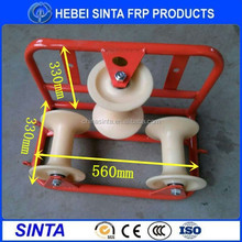 Nylon Triple cable roller, steel Cable corner roller,electrical cable pulley