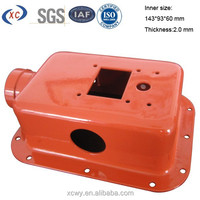 XCWY custom anodized aluminum case for explosion proof instrument