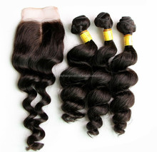 aliexpress wholesale price loose wave brazilian hair extensions south africa, 3 bundles with closure