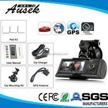 Dual Car Lens Dvr Camcorder With GPS Car Camera For School Bus