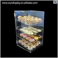 acrylic bread display cabinet advertising bakery cookie display case