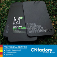 Best quality stylish black simple art paper id business cards