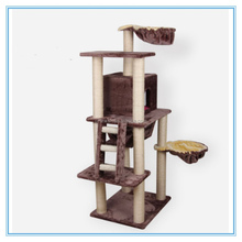 Wholesale thick soft plush climbing scratching cat house cat tree