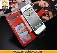 Case for iPhone 5S, New Wallet Flip Leather Case Cover For Apple iPhone 5S Free Screen Protector