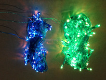 100L 10M flashing colorful rice light for holiday christmas deco