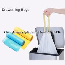 Drawstring bag for packing garbage