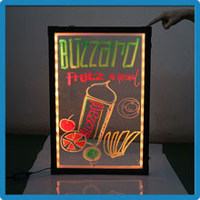 Best Selling ZD K4 Transparent Panel Office Advertising Sign Board Acrylic LED Display Board Aluminum Alloy Frame LED Pavement