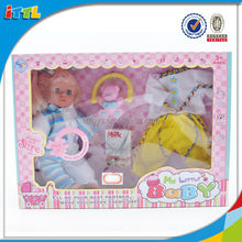 hot selling cute 14 inch standing baby dolls with accessories function dolls