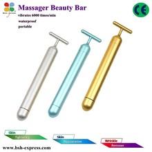 New design face skin massage machine 24k gold bars