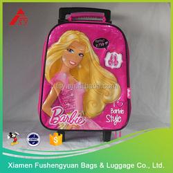 High quality cheap custom kids bag polyester trolley bag