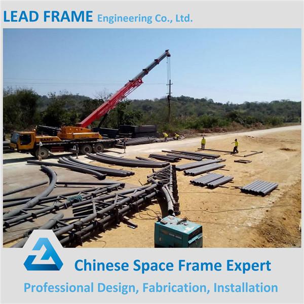 Light steel large span prefabricated stadium roof truss for Prefabricated roof trusses prices