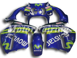 Motorcycle Fairing Kits For HONDA CBR250RR KIT MC19 1988 1989 88 89 mc19 fairings bodykit movistar blue green cheap price