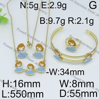Great quality stainless steel 2015 new design gold plate jewelry set