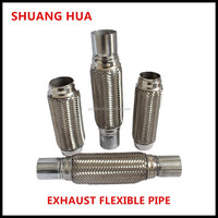 exhaust flexible pipe, bellows with nipples/joints, auto exhaust system