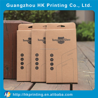custom printing smart touch tempered glass screen protector paper box for iphone/samsung