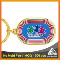 Wholesale bulk fashion multi-color customized logo keychain souvenir