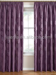 Elegant jacquard design polyester window curtain