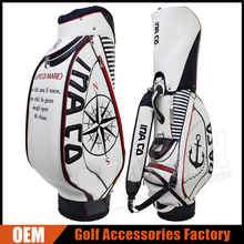 Custom Golf Bags Leather Golf Tour Staff Bags / Caddy Bags