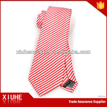 7cm necktie 100% fashion Import Jacquard red stripe polyester neck tie for men