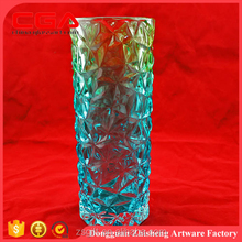 Chinese Factory produce wholesale high quality clear glass vase for home decoration