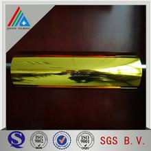 12mic/18mic Gold metallized PET thermal lamination film for lamination paper