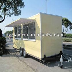 New type 300cm length Stainless steel electric food van
