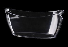Acrylic ice bucket clear champagne bucket cooler for wine