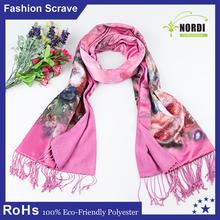 Impression dame carré foulard de soie
