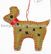 deer shape felt christmas hanging