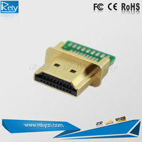 new product HDMI male connector for PCB Solder