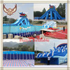 Amusement Park Water Slide Shark And Dolphin Water Sports Park The Biggest Inflatable Water Park Products Obstacle Pool Football