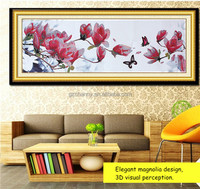 New ArrivalHigh Quality Cross Stitch Embroidery Kit Magnolia Design 3D Pattern 124*48cm Home Decor Painting Living Room Bedroom