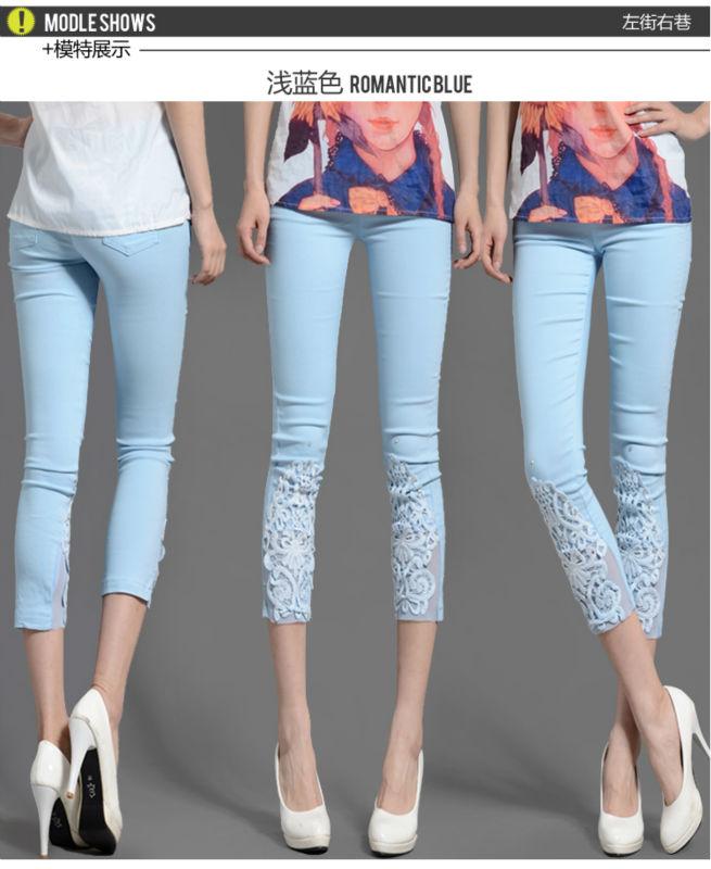 Летние брюки с кружевом