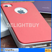 Protective back Case cover with Screen Protector for iPhone 4 and 4S (Assorted Colors)